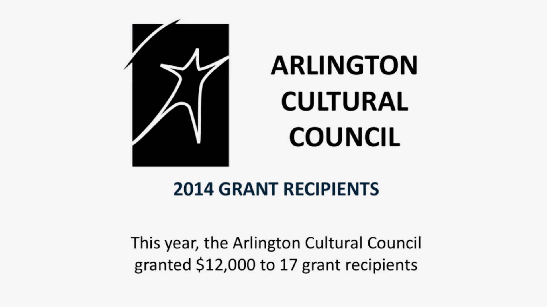 Arlington Cultural Council Awards 2014