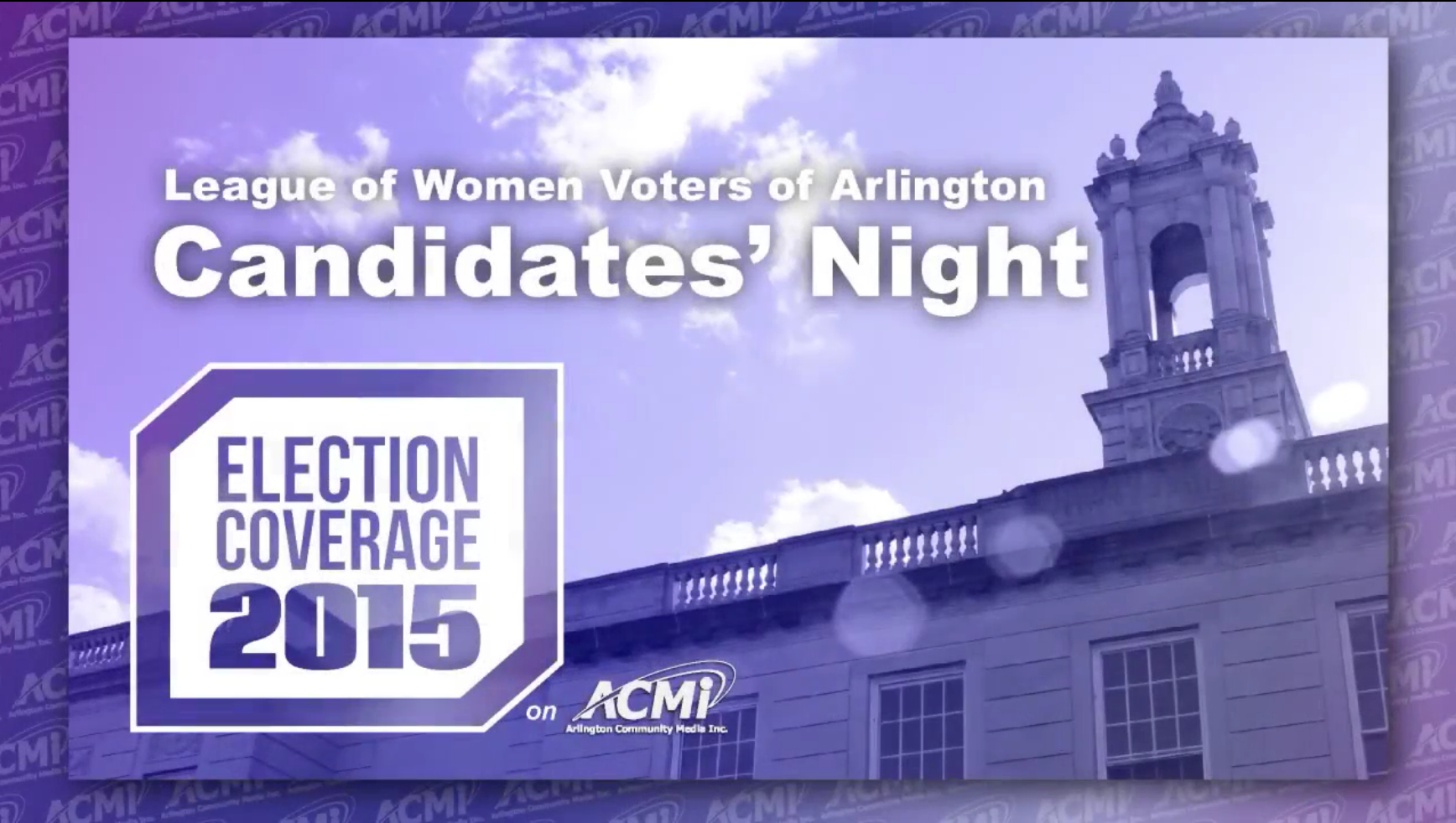 League of Women Voters: Arlington Candidate's Night 2015