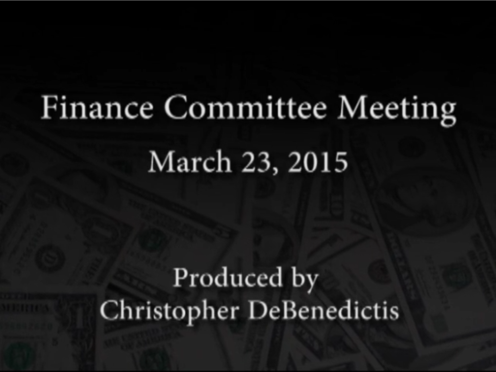 Finance Committee Meeting – March 23, 2015