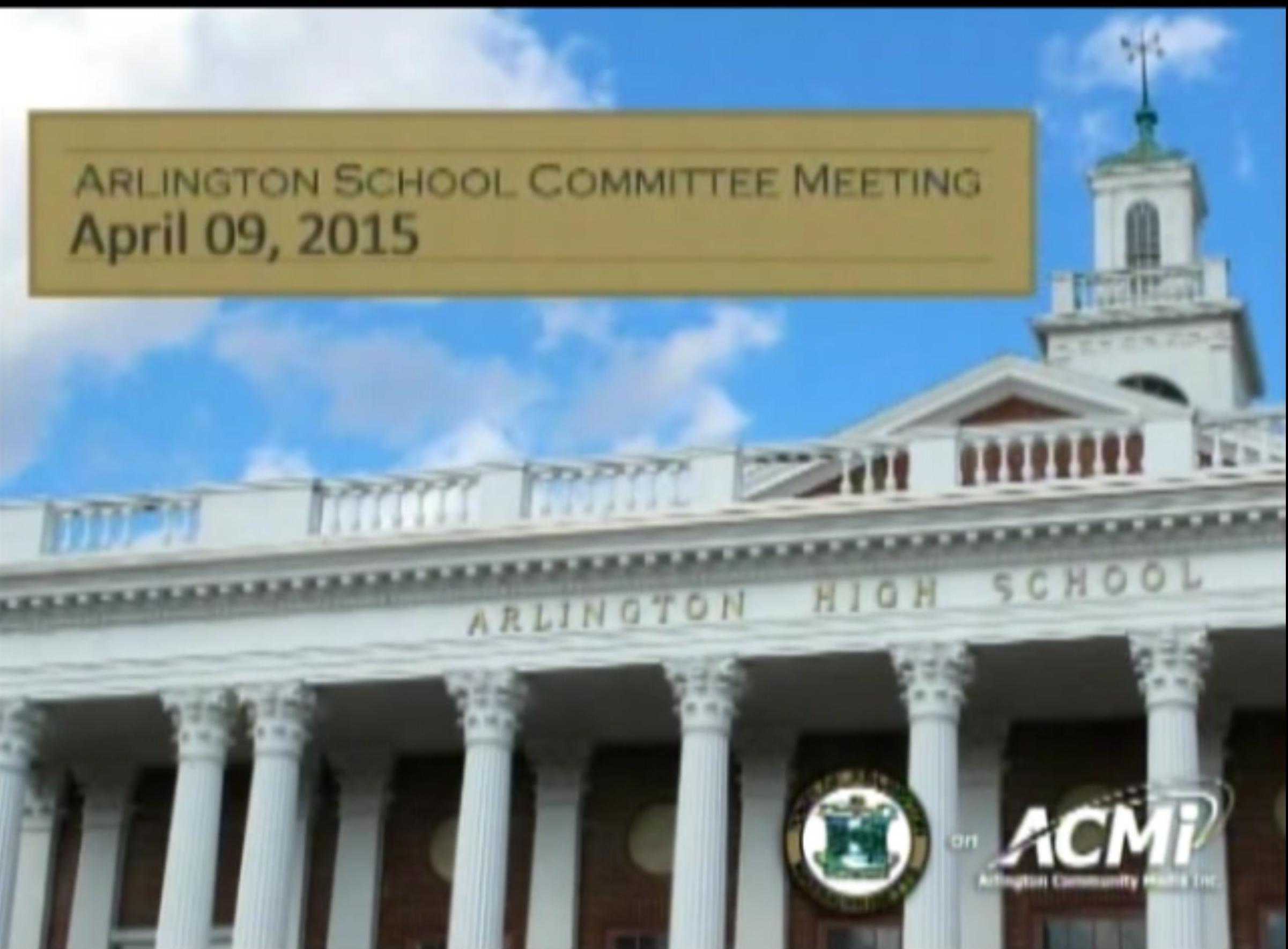 School Committee Meeting – April 09, 2015