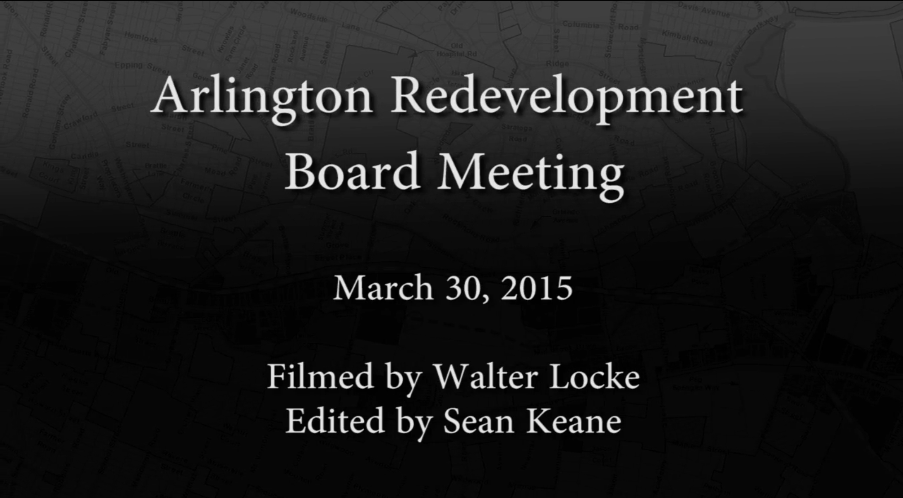 Redevelopment Board Meeting – March 30, 2015