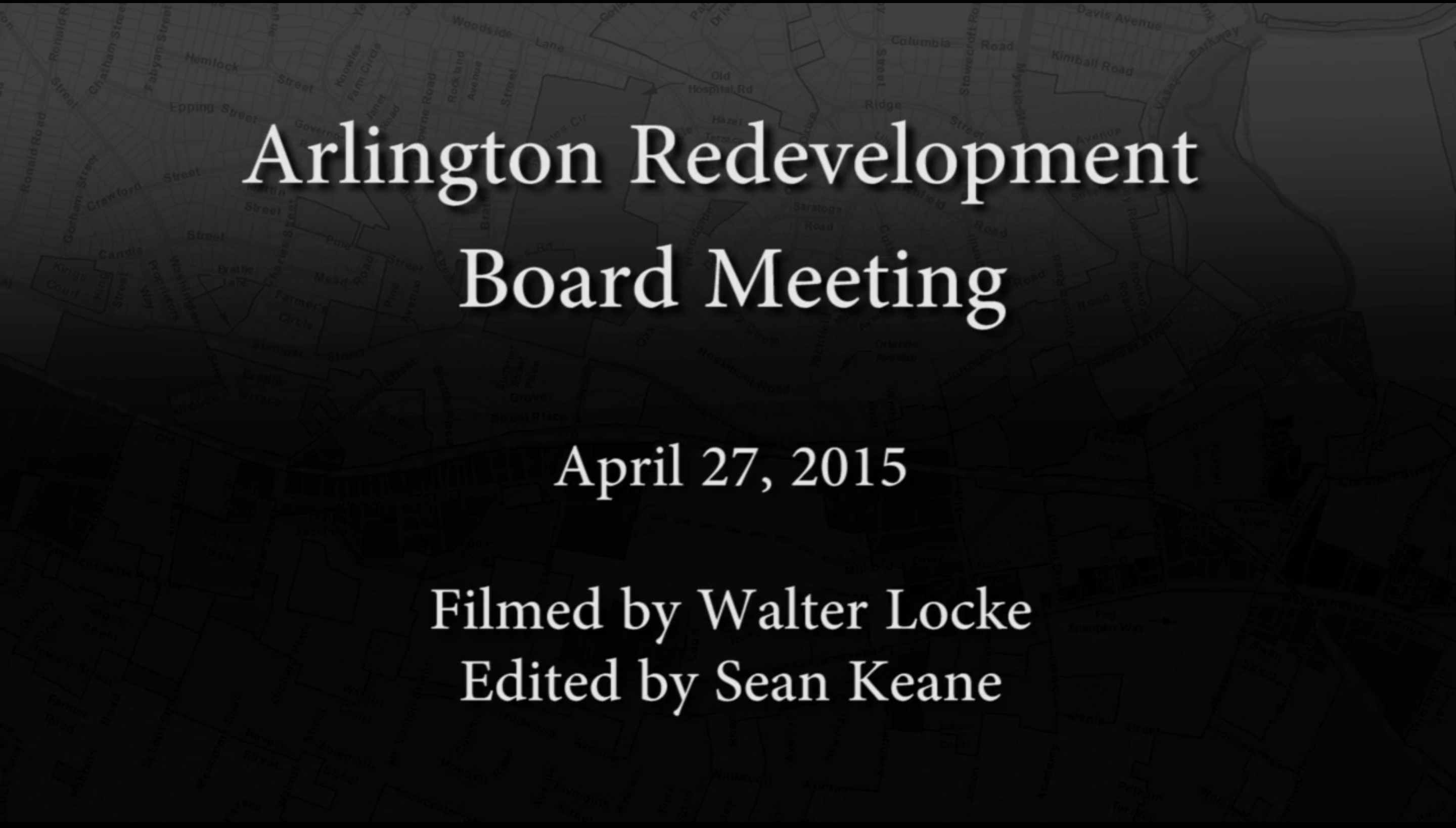 Redevelopment Board Meeting – April 27, 2015