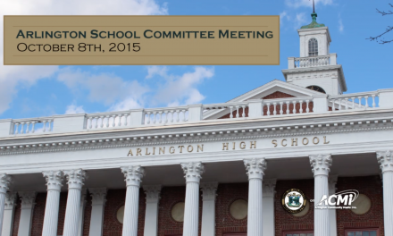 School Committee Meeting – October 8, 2015