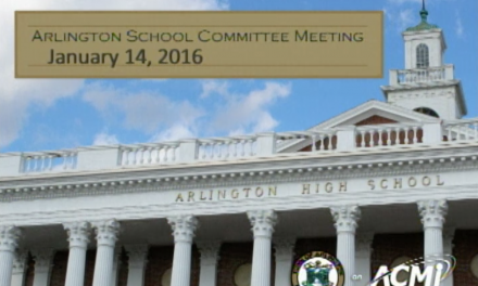 School Committee Meeting – January 14, 2016