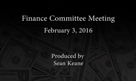 Finance Committee Meeting – February 3, 2016