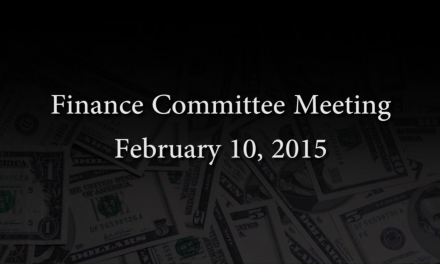 Finance Committee Meeting – February 10, 2016