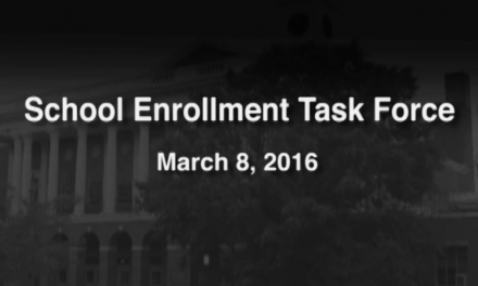 School Enrollment Task Force – March 8, 2016