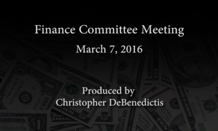 Finance Committee Meeting – March 7, 2016