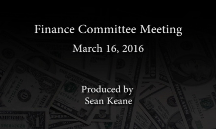 Finance Committee Meeting – March 16, 2016