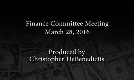 Finance Committee Meeting – March 28, 2016