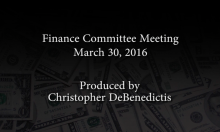Finance Committee Meeting – March 30, 2016