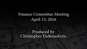 Finance Committee – April 26, 2016