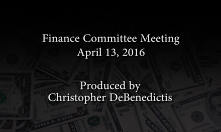 Finance Committee Meeting – April 13, 2016