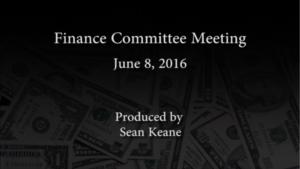 Finance Committee – June 8, 2016