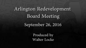 Redevelopment Board Meeting – September 26, 2016