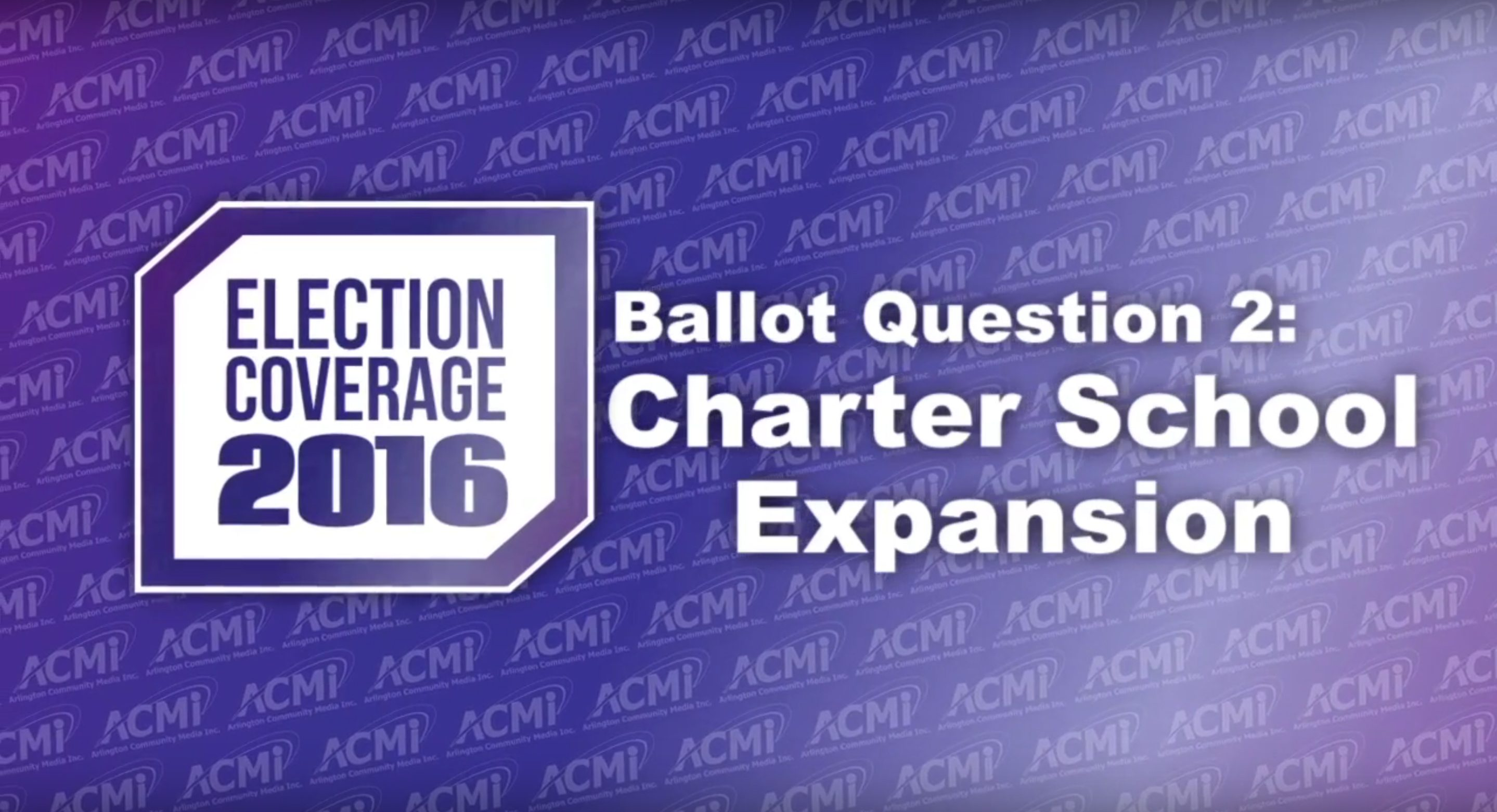 Massachusetts Ballot Question 2 Debate: Charter School Expansion