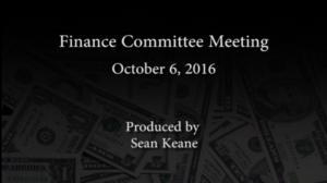 Finance Committee – October 6, 2016