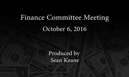Finance Committee – October 6, 2016