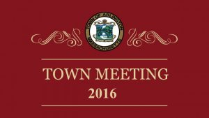 Special Town Meeting – October 19, 2016