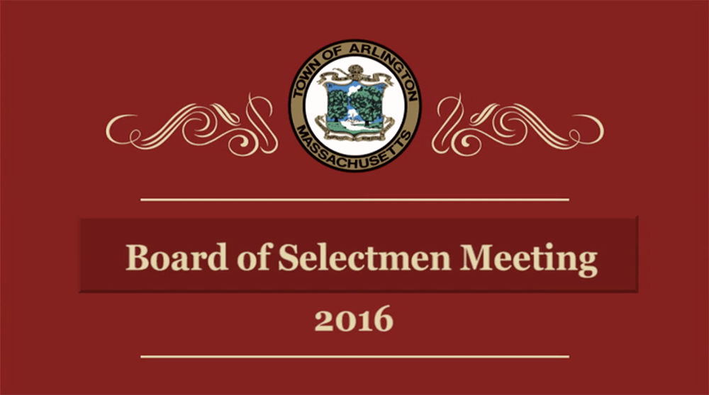 Selectmen Meeting – January 11, 2016