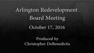 Redevelopment Board Meeting – October 17, 2016