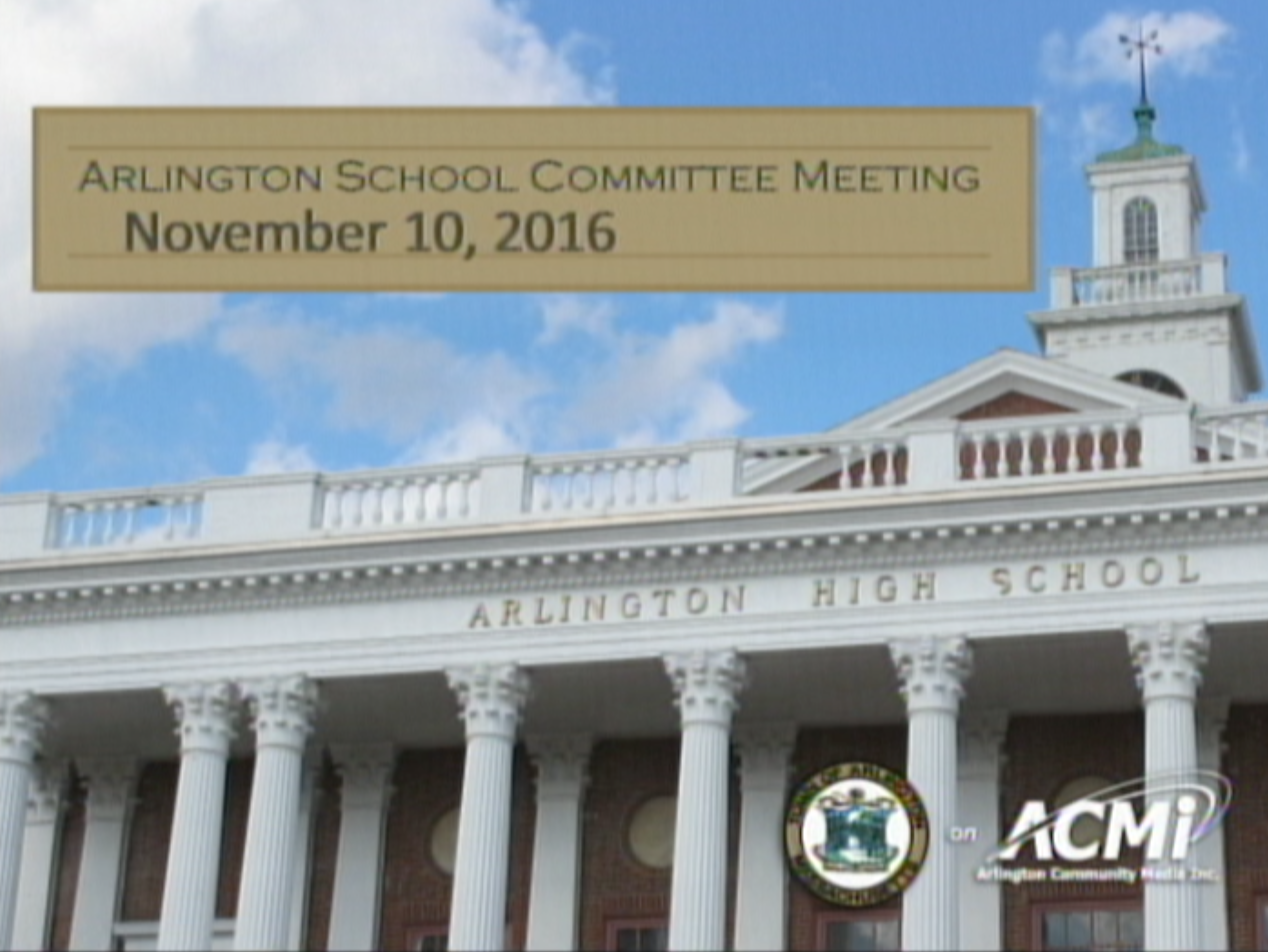 School Committee Meeting – November 10, 2016