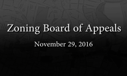 Zoning Board of Appeals Meeting – November 29, 2016