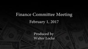 Finance Committee – February 1, 2017
