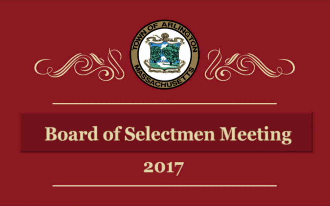 Selectmen Meeting – December 4, 2017
