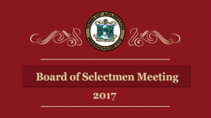 Selectmen Meeting – September 11, 2017