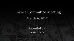 Finance Committee – March 6, 2017