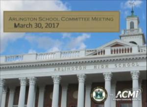 School Committee Meeting – March 30, 2017