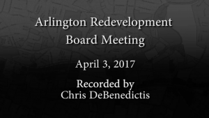 Redevelopment Board Meeting – April 3, 2017