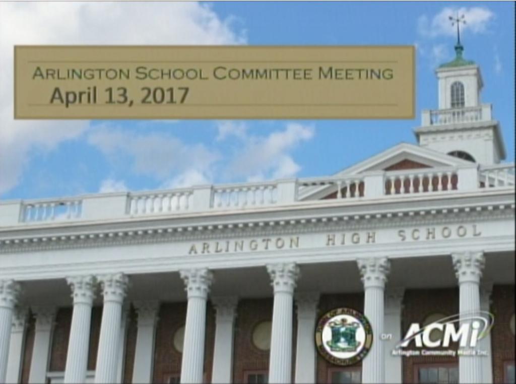 School Committee Meeting – April 13, 2017