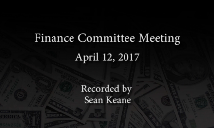 Finance Committee – April 13, 2017