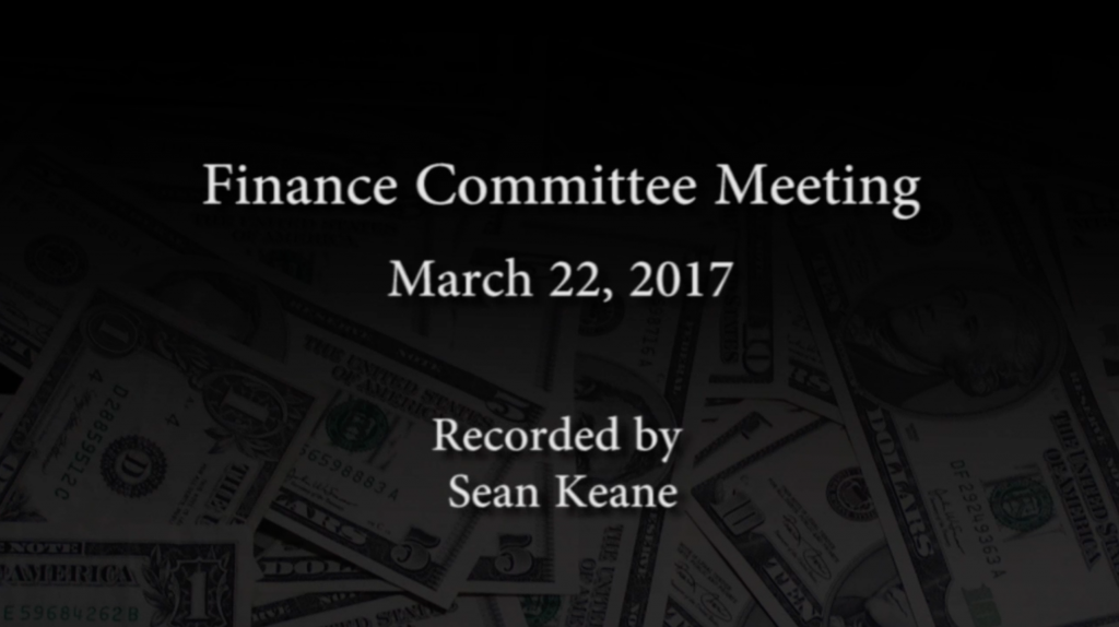 Finance Committee – March 22, 2017