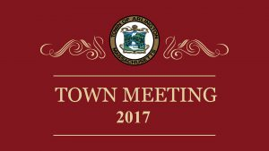 Town Meeting – May 1, 2017