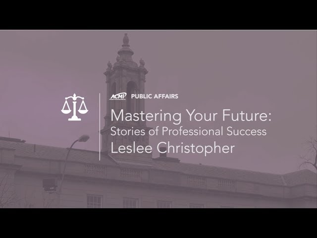 Mastering Your Future: Stories of Professional Success – Leslee Christopher