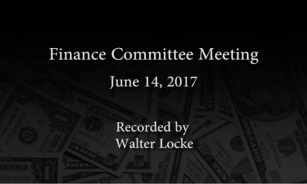 Finance Committee – June 14, 2017