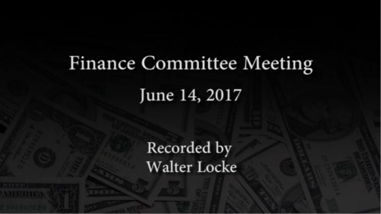 Finance Committee – June 14, 2017