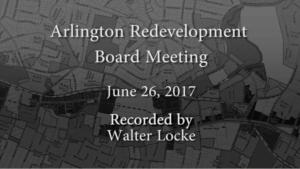 Redevelopment Board Meeting – June 26, 2017