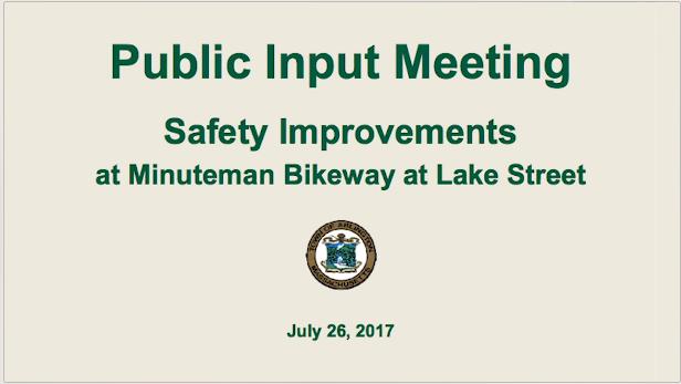 Lake Street Bikeway Public Meeting – July 26, 2017