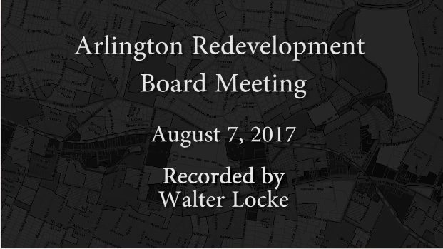 Redevelopment Board Meeting – August 7, 2017