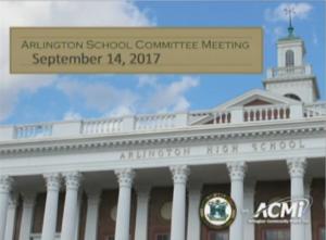 School Committee Meeting – September 14, 2017