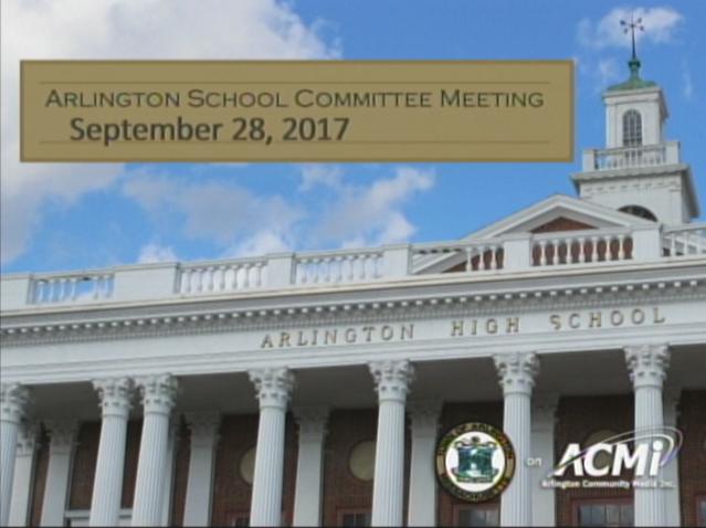 School Committee Meeting – September 28, 2017
