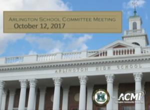 School Committee Meeting – October 12, 2017
