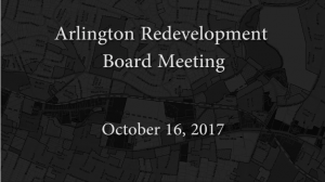 Redevelopment Board Meeting – October 16, 2017