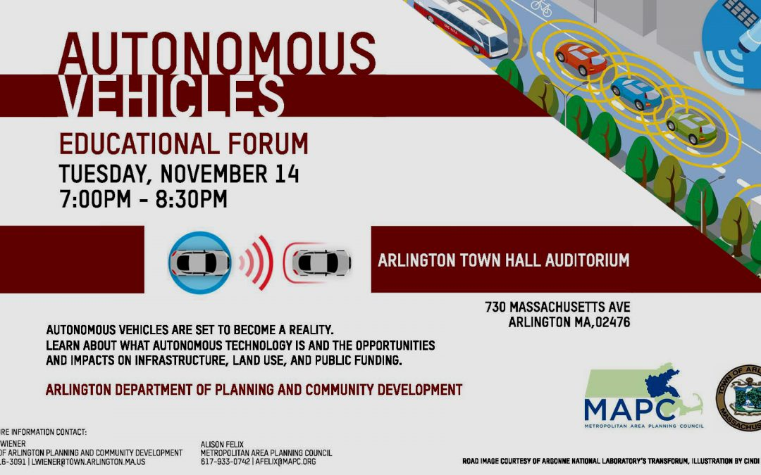 Autonomous Vehicles Educational Forum – November 14, 2017