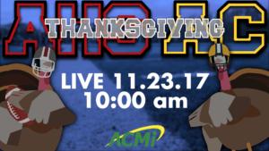Watch the Thanksgiving Football Game LIVE on ACMi! Arlington High School vs. Arlington Catholic – 10 AM
