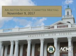 School Committee Meeting – November 9, 2017